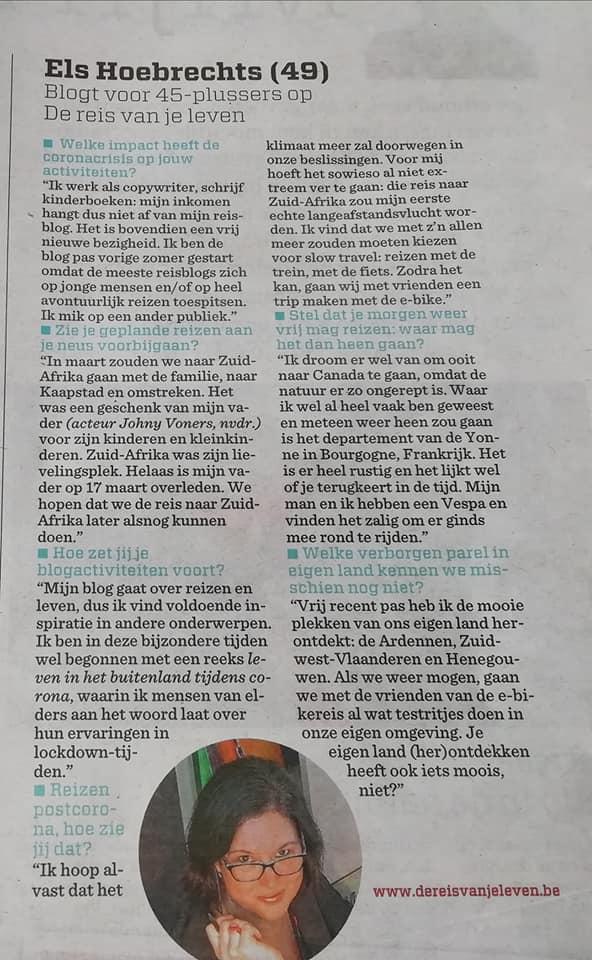Nieuwsblad 9 mei 2020