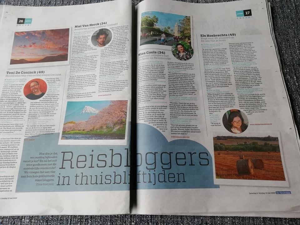 De reis van je leven in het Nieuwsblad