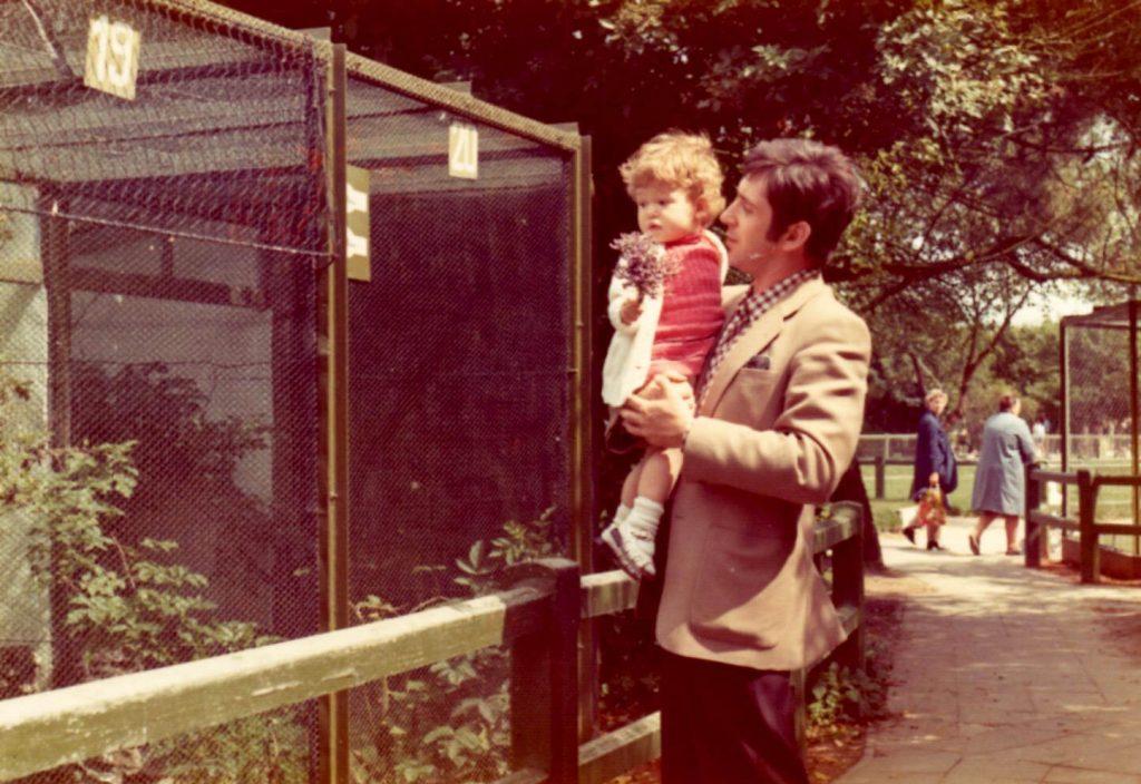 Met papa in het Zwin 1973