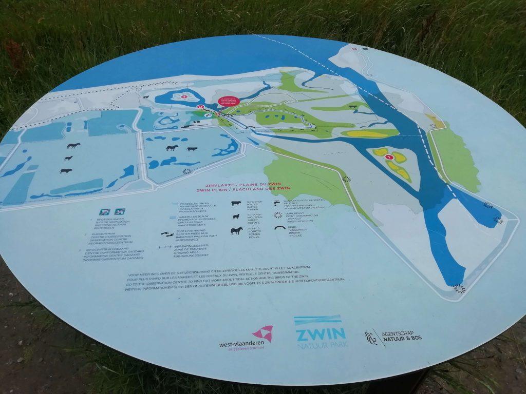 Kaart Het Zwin